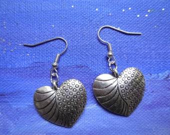 25 mm Silver Heart Earrings