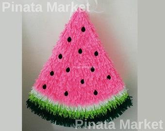 Watermelon Pinata,  Fun Party Game, Birthday Piñata, Party Decor, Party Supply