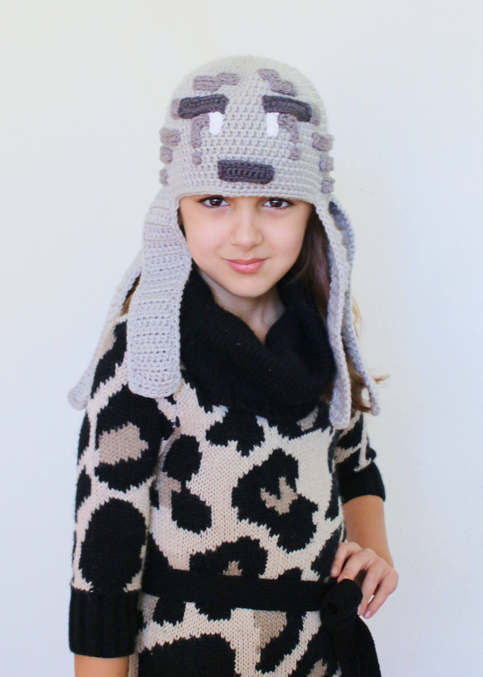 Minecraft Ghast Crochet Hat PDF Pattern, Minecraft Crochet Hat ...