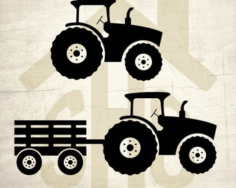 Tractor SVG, Tractor vector, Tractor Silhouette digital clipart Svg, png, dxf files instant download for User, Design, Printing or more