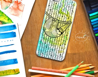 Sloth Phone Case Sloth iPhone Sloth Samsung Cute Sloth Gift Sloth Gifts Cute Sloth Design For Sloth Lovers For Sloth Fans Sloths