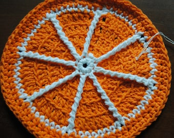 Orange Citrus Dish Cloth
