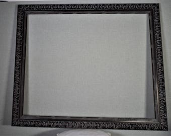 24x30 (Approx Size) Frame Silver Wood with Optional Custom Matting