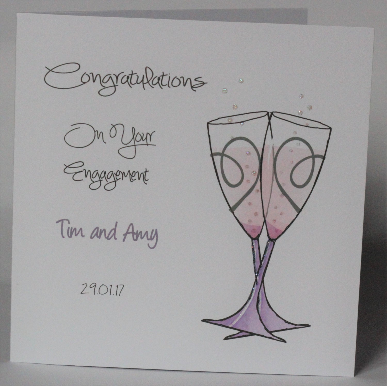 Lovely personalised handmade congratulations engagement zoom kristyandbryce Choice Image