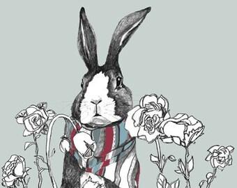 Rabbit In Bear's Garden - Art Print