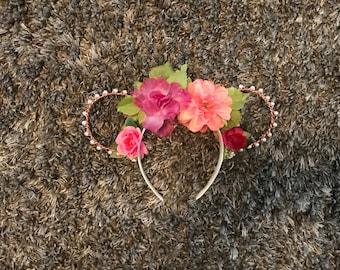 Flower and Garden Beaded Ears