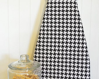 Ironing Board Cover - Michael Miller Houndstooth in Black and White