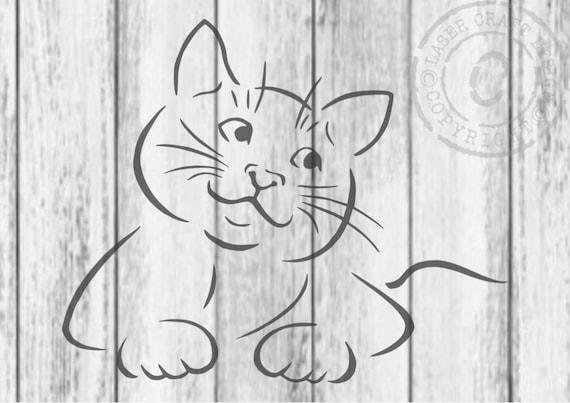 Niedlich Fehlende Katzenschablone Zeitgenössisch - Beispiel Business ...