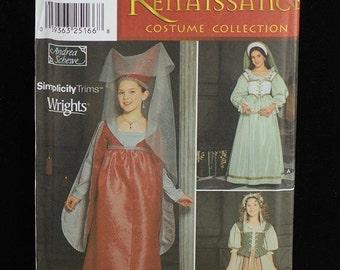 Simplicity Costume Pattern 9836 Renaissance Fair NEW Girls Sizes 7-14