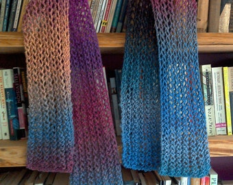 Mermaid handknit Lace Scarf - Wool winter hand knit scarf