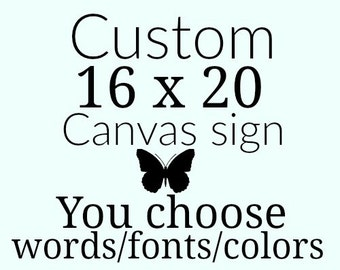 Custom 16 X 20 painted canvas sign - custom kitchen sign - custom laundry sign  - personalized kitchen sign - custom office decor