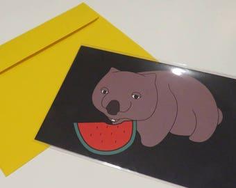 FATSO WOMBAT CARD