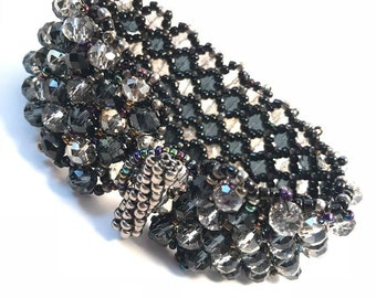 handmade netted bracelet