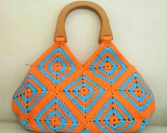 Granny squares crochet bags, Granny square purse, large Granny square bag, Granny square bags,crochet bag, crochet bag and purses, crochets