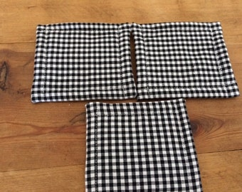 Urban UnSponge, Dish Cloth, Eco Friendly Reusable Washable Sponge, Black White Gingham Check, Order as Many as you Need, by CHOW with ME
