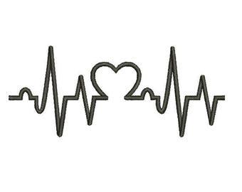 29 Sizes Heart Beat HeartBeat Nurse Embroidery Fill Mini Design Machine Instant Download Digital File EN2161F2
