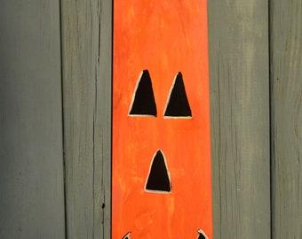 Hand Painted, Handmade, re-purposed Fan Blade, Door Hanger, for Halloween