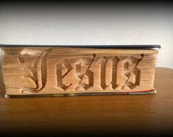 Jesus cut and fold book folding pattern