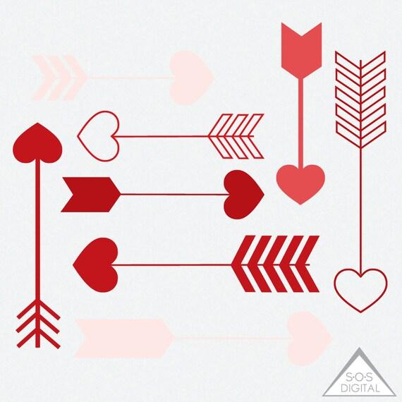 Red Heart Arrow Clipart Clipart Heart Arrows Valentine (570 x 570 Pixel)