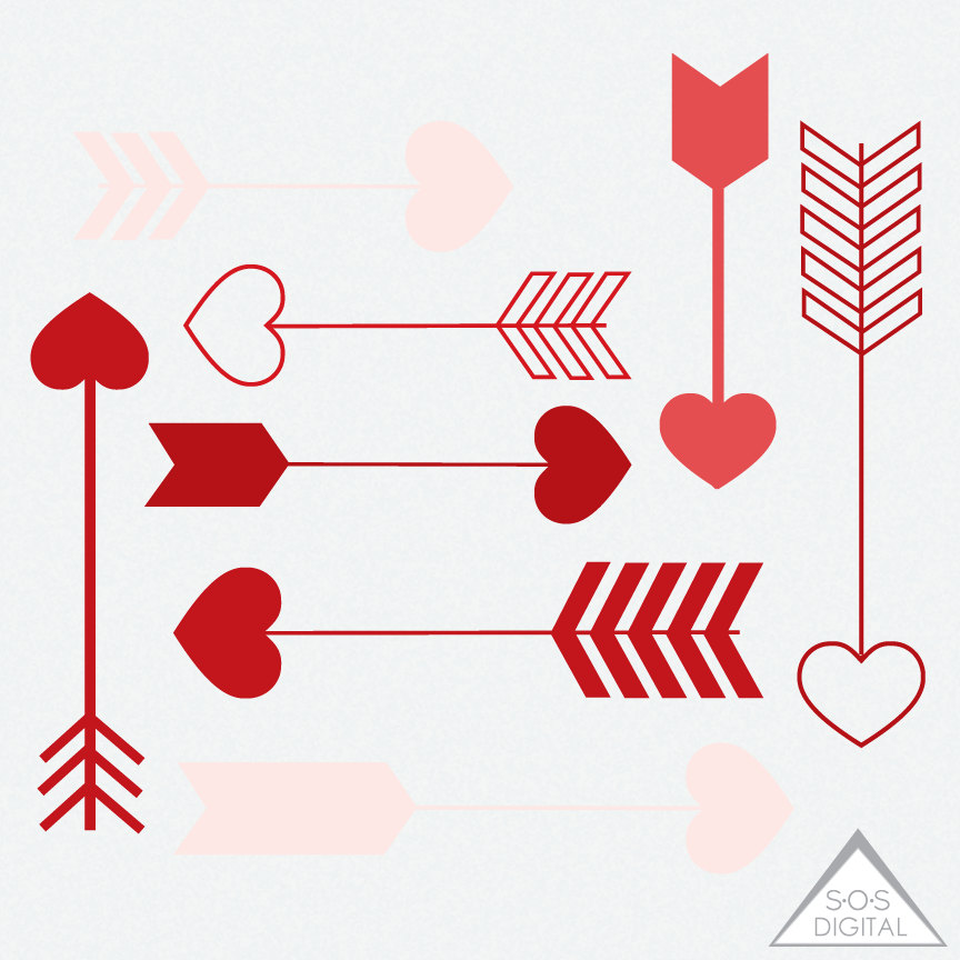 red heart arrow clipart clipart heart arrows valentine. Black Bedroom Furniture Sets. Home Design Ideas