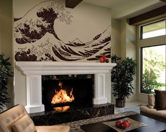 Vinyl Wall Decal Sticker Japanese Great Wave Hokusai 363s