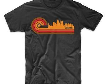 Retro Style Cincinnati Ohio Skyline T-Shirt