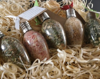Dip Mix Ornaments - Set of 5 Dip Mixes, Christmas Dip Mix, Christmas Gift, Hostess Gift, Teacher Gift