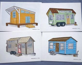 Tiny House postcards (set of 4)