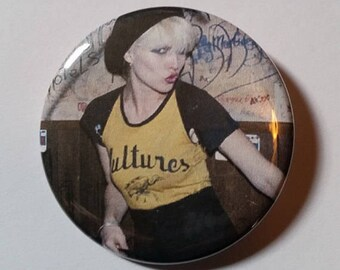 Debbie Harry Blondie handmade 2-1/4 inch pinback badge badges