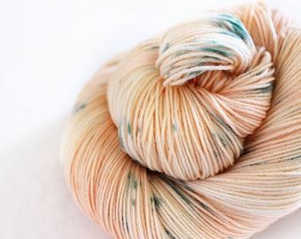 Garden Rose - Nuthatch - 75/25 superwash merino/ nylon sock yarn