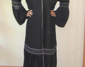 Abaya Dubai kaftan- Brown Accent Abaya