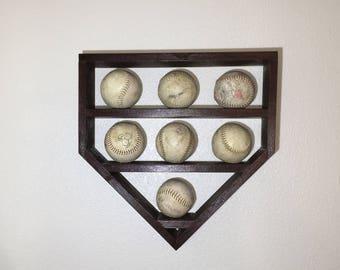 Softball Shelf, Solfball Display Shelf, Home Plate Solfball Shelf, Home Plate Shadow Box, Solfball Shadow Box