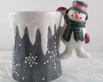 Avon Let It Snow Snowman Mug/Cup Avon Gift Collection, Unused Vintage