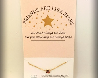 Friends Are Like Stars Delicate Star Necklace Dainty Star Necklace