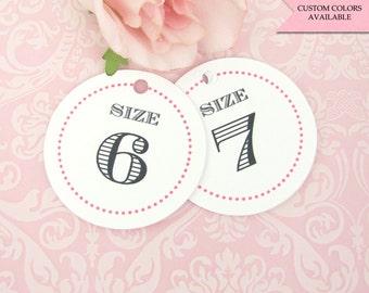 Flip flop tags (30) - Flip flop size tags - Wedding flip flop tags