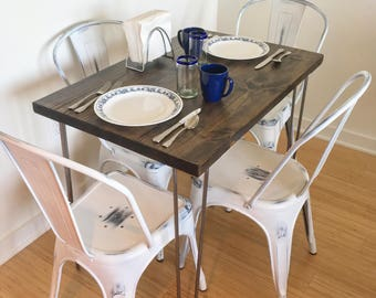 Kitchen Cafe Table Breakfast table etsy modern rustic dinette kitchen table hairpin legs industrial kitchen table dining table workwithnaturefo