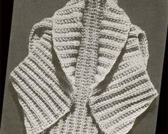 Knit Shrug Super Easy 1950s Vintage Knitting Hug Me Tight Bolero Vest Sleeveless Shortie Knit Sweater SML