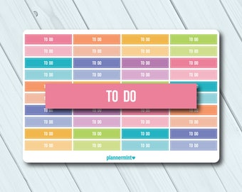 To Do Header Planner Stickers - Erin Condren Life Planner - Happy Planner - Reminder - Important - Organization - Matte or Glossy