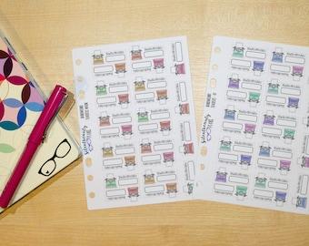 NaNoWriMo Tracker Stickers,  NaNoWriMo Word Count Stickers, Typewriter, Planner Stickers, Filofax, Kikki-K, Erin Condren, Happy Planner, UK
