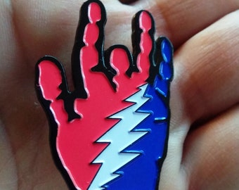 Jerry's Hand - Grateful Dead - Johnny Rock n Ride - Furthur - hatpin