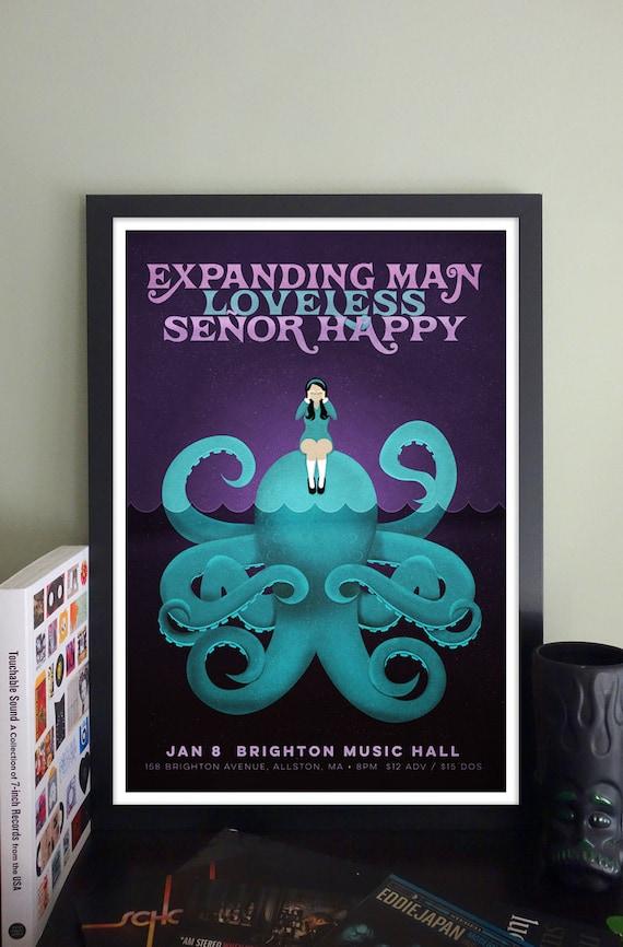 Expanding Man // Loveless // Señor Happy Gig Poster // Brighton Music Hall