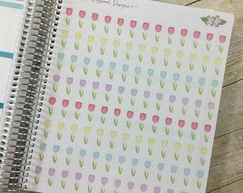 Gorgeous Tulip Flower Stickers