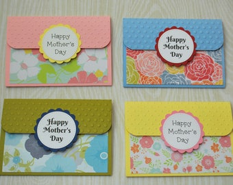 Mother's Day Gift Card Holders - Pop-up Gift Card Holders - Flower Mother's Day Gift Card Holders