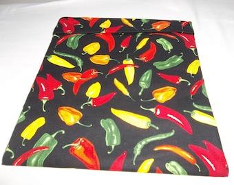 Microwave, Potato Bag, Chili Pepper, Multi Colored Peppers, Potato Sack, Microwave Potato Bag, Kitchen Utensil, Handmade, ALL Cotton, Gift