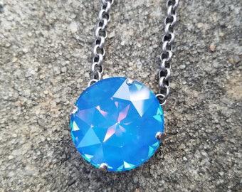 27mm ultra blue Swarovski necklace