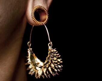 Hoop Earrings - Spike Hoop Earrings - Durian Earrings