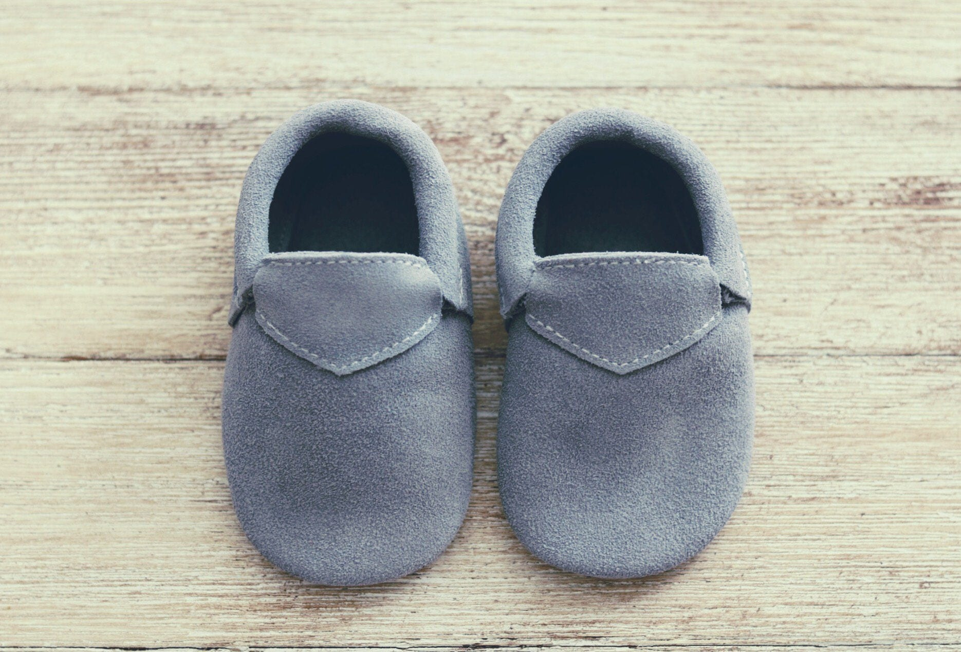 100 % Genuine Grey Leather Baby Shoes Gray Baby Loafers Shoes Baby