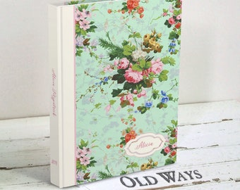 Shabby Roses Floral Journal - Cottage Chic 2018 Journal, Blank Book, Diary - Gardening Journal, Wedding Planning Journal, Wallpaper Floral