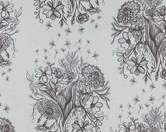 Mod Corsage by Anna Maria Horner for Free Spirit - Observations - Graphite - 1/2 yard Cotton Quilt Fabric