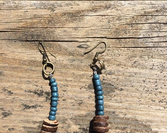 African Paper Bead Earrings